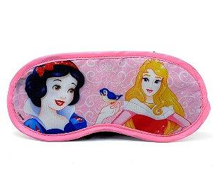 Máscara Para Dormir Infantil Rosa Claro Personagens Disney Princesas - Etihome