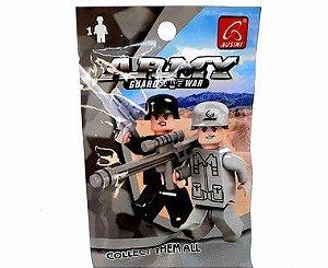 Envelope Surpresa Com Boneco De Montar - Temático Army Guard