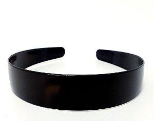 Tiara Larga Básica De Plástico  - Preto Liso