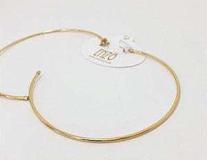 Brinco Argola Grande Dourado - REF: PT0020
