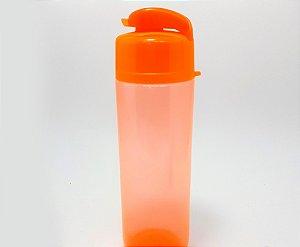 Garrafa De Plástico 700ml Com Tampa - Laranja Neon