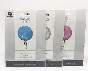 """Balão Metalizado Bola - Colorido (18"""" - 45cm)"""
