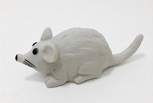 Rato Mordedor Para Pets De Borracha Cinza Com Som