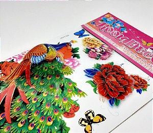 Adesivo Decorativo Colorido 6D - Temático Jardim