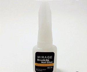 Cola Para Unha Postiça Com Pincel 10g Mirage - Brush