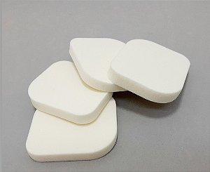 Embalagem Com 4 Esponjas Para Maquiagem - Quadrada Branca