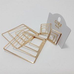 Brinco Dourado Grande - REF: PT0268