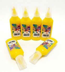 6 Tubos De Cola Colorida 21g  Amarela - Win Paper