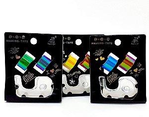 2 Fitas Autoadesivas Coloridas  Com Suporte Transparente  - Moure Jar