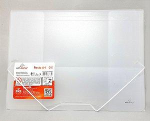 Pasta Escolar A4 Com Elástico Branco - WinPaper