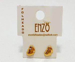 Brinco Pequeno De Coração Dourado - REF: PT0292