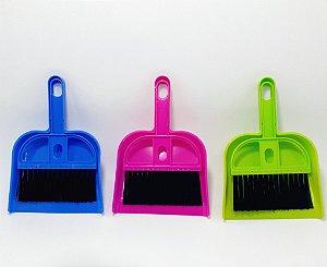 Kit Limpeza Com Mini Pá E Mini Vassoura De Plástico Colorido - Shock