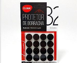 Protetor Adesivo De Borracha Pequeno Redondo Com 32 Unidades - Clink