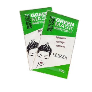2 Sachês Máscara Facial Refrescante Pepino Green Mask 10g - Fenzza