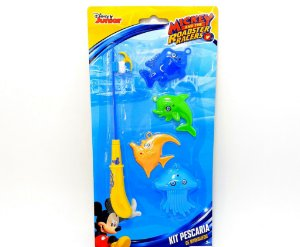 Kit Pescaria De Brinquedo Mickey Aventuras Sobre Rodas - Etitoys