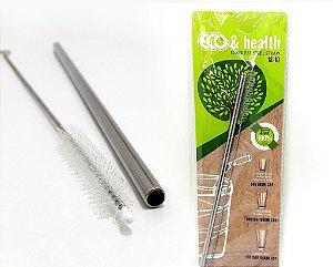 Canudo E Escova Em Aço Inox - Eco & Health