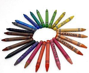 Caixa Com 24 Unidades De Giz De Cera Coloridos - Cor  E Arte