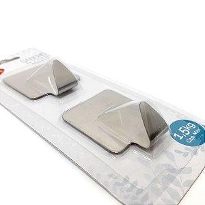 Embalagem Com 2 Ganchos Quadrado de Parede Auto Adesivo - Clink