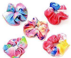 Elástico De Tecido Para Cabelo Scrunchie - Tie Dye