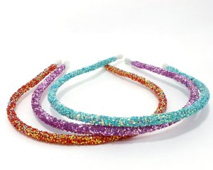 Tiara Fina Com Mini Lantejoulas - Colorido