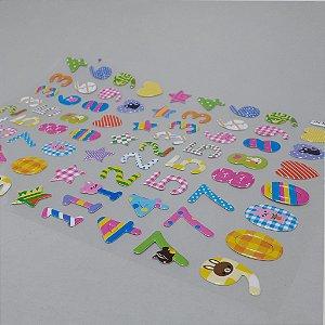 Adesivo Decorativo Colorido - Temático Números