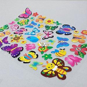 Adesivo Decorativo Colorido - Temático Borboletas