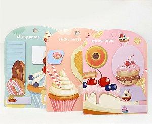 Lembretes Auto Adesivo - Temático Cupcake Fruta