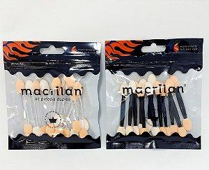 Embalagem Com 12 Pinceis Aplicadores Ponta Dupla - Macrilan