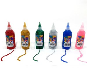 6 Tubos De Cola Glitter Escolar Tubo 21g - Win Paper