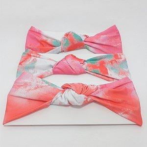 Faixa Turbante De Cabelo Tie Dye Colorida