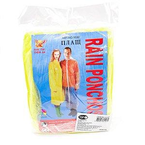 Capa De Chuva De Plástico - Amarela