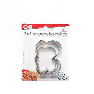 Kit Com 3 Moldes Para Biscoitos De Metal Borboleta  - Top House