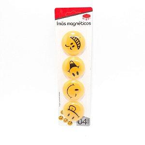Cartela Com 4 Imãs Magnéticos - Temático