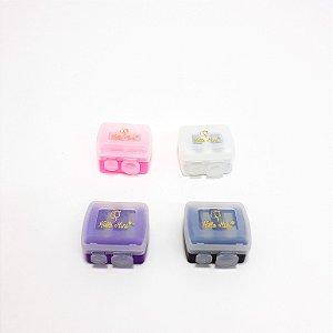 Apontador De Lápis Para Maquiagem Com Depósito Colorido - Hello Mini