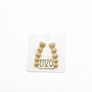 Brinco Ear Cuff Dourado De Coração - REF: PT0326