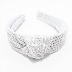 Tiara Turbante De Tecido Com Arco Largo - Branco