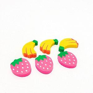 Embalagem Com 3 Borrachas Escolar - Temático Frutas
