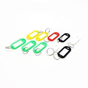 Embalagem Com 10 Organizadores de Chaves Com Identificação Coloridos