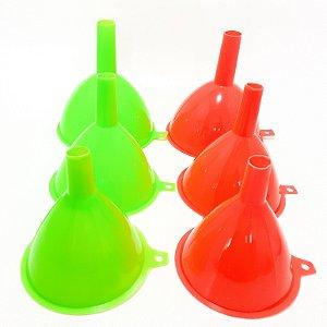 Funis De Plástico Com 3 Peças - Colorido