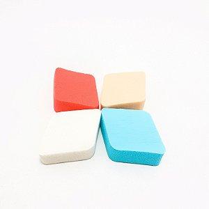 Embalagem Com 4 Esponjas Para Maquiagem - Losango