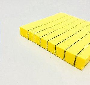 Bloco Adesivo De Anotações Com Pauta Amarelo Com 100fls Stick Note - InterPonte