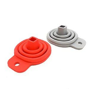 Funil Retrátil De Silicone Flexível - Colorido