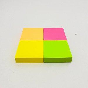 Embalagem Com 4 Mini Blocos Coloridos Com 100fls Cada 38x38mm - Interponte