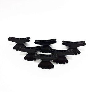 Piranha Sorriso De Plástico Para Cabelo 6 Unidades - Preto