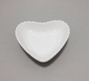 Porta Jóias Pequeno De Coração Em Porcelana - Branco