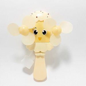 Ventilador De Mão Portátil Amarelo - Temático Picolé