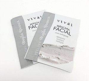 2 Sachês Máscara Facial Argila Branca 10g - Vivai