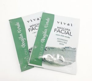 2 Sachês Máscara Facial Argila Verde 10g - Vivai