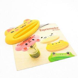 Espremedor De Tubos Em Plástico Amarelo - Temático Gato