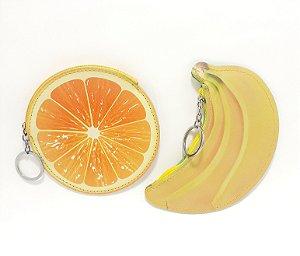 Porta Moedas Com Chaveiro E Zíper Em Courino - Temático Frutas